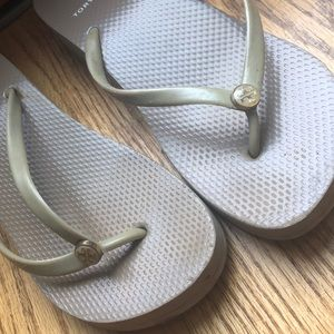 Tory Burch Shoes - Tory Burch wedged flip flop sandals